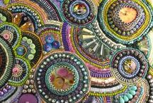 Bead Embroidery / The art of bead embroidery. Jewelry, quilts, wall hangings and more, all embellished with tiny beads and sequins.