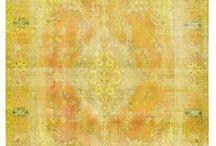 Vintage Carpets / Vintage overdyed handmade rugs