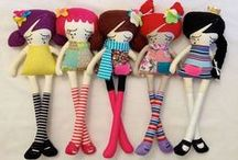 Sew sweet dollies / There's nothing like handmade dolls.  So many cute ideas for dolls, felt beauties and stuffed animals.  Thanks to all who share such great ideas and patterns! / by Dalyne Easley