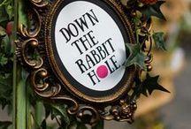 tea party at Wonderland / Ideen für die nächste Alice im Wunderland oder Tee Party ... Einladungen, Dekoration, gedeckter Tisch