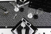 ♕ Anniversaire Noir et Blanc ♕ / Pureté et subtilité forment le combo parfait pour décorer votre fête d'anniversaire... Comment ? Avec du noir et du blanc !