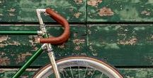 Bicycle. / A board full of bicycle tips.