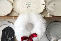 Wreaths / Wreaths, beautiful in the round. Wreaths to make, to inspire. Christmas wreaths, stylish modern, country and traditional.