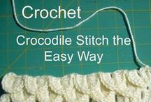 Crochet - How To / How to make stitches and basic how to crochet info, tips and tricks.