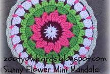 Crochet - Circles & Mandalas / Circles to use as mandalas, coasters or inspiration for beginning a circle blanket or rug.