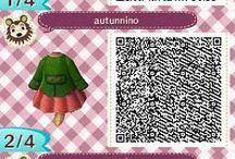 My Animal Crossing New Leaf QR codes / My Handmade AC outfits!
