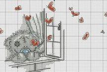 Cross Stitch for Children / Korsstingsmotiver til børn