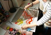 Gocco, Paper, Textiles, Digital Sketching, Drawing & Printmaking
