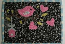 Quilted Mug Rugs, Candle Mats and Placemats