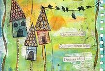Art Journal Pages and Tutorials