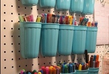 crafty ideas** / DYI & FYI Things I could make or be organize with. / by Evelyn Lugo