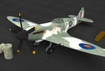 The Spitfire XIV project / I made a Spitfire Mark XIV in Blender, the open source 3D environment, from scratch.   Pinterest sucks in that it doesn't let you rearrange pins, but you can see the development if you go through the pictures in the numeral order.