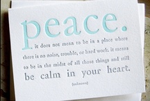 peace. / by Lea