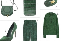 GREEN green green / A vibrant escape of all shades green... ahhh like going to a rainforest of fashion!