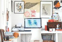 Organize your work space!  / This is the secret to getting things done..