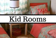 Kid-Friendly Rooms / We plan on having a large family, and these rooms are all about fun. Here, you will find shared bedrooms that feel private, fun playrooms that grow with your kids, and unique home ideas that will have all the neighbors over at your house. Follow along to have the coolest house in the neighborhood.
