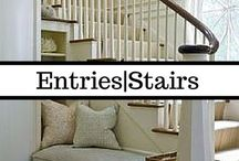 Entryways & Stairways / These in-between spaces are often under-utilized or wasted. These pins give great ideas for maximizing the space in your home either by making these nooks useful or beautiful. Follow along for ideas to transform the forgotten spaces in your home into organizational wonders that make the whole home function more beautifully.