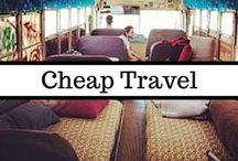 Cheap Travel | Budget Travel | Travel Hacks / My husband and I have couch-surfed, car-camped, and traveled the country on nothing but sandwiches and young love. I have aspirations of taking our financially frugal adventures to other countries. Hopefully these cheap travel tricks, budget travel ideas, and general traveling hacks will help us (and you) find paradise even when money is tight.