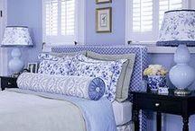chambre bleue blanche / deco nouvelle chambre / by Sylviane Mathey