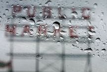 Rain / rain, love it, even on the lens of a camera / by Cynthia Roney