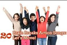 Brain Breaks Activities / Regular brain breaks enhance attentiveness, concentration, focus and accelerate learning by allowing children to release their energy, anxiety and stress.  Brain breaks also increase circulation and promote physical fitness and coordination.