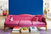Walls & Halls / Home decor. Art. Shelves. Paint. Wallpaper. Accent walls.