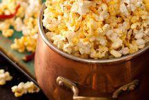 Snacks / Snacks. Popcorn. Fruit. Chips. Nuts. Mozzarella sticks.