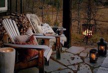 Getting cozy {Autumn Evenings} / Cozy Autumn Decor.
