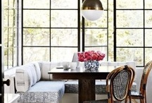 Luscious kitchens and dining rooms / More lusciousness at http://mylusciouslife.com/stylish-home-kitchens, and http://mylusciouslife.com/stylish-home-dining-rooms/