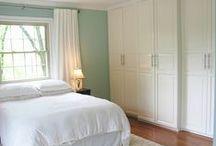 Bedroom Ideas 2015 / Schlafzimmerideen in kühlen, hellen Farben/ weiß, türkis, grau, creme, duck egg blue