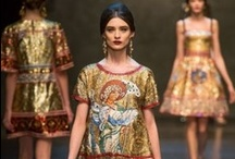 Frockage: Dolce & Gabbana / Much more on the Luscious website including http://mylusciouslife.com/dolce-and-gabbana-fall-2013-rtw-collection/