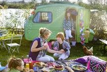 c a m p i n g   i n s p i r a t i o n / Beautiful camping and picnic ideas including tents, campervans, cushions and bbq