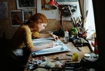 Arty Crafty People / I love creative people. I love photographs of creative people at work. / by Maru Calmaestra