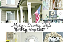 Home tours of other bloggers MY Feature Friday / Every Friday I feature a bloggers home tour on my blog. I find unique style, with lots of diys. / by Debbiedoo's