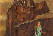 Vintage Gothic Romance / Girls running from houses full of secrets, villains, and romance.  / by Jenni Brummett