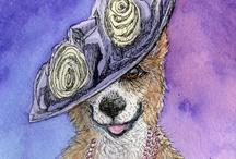 Corgis in hats