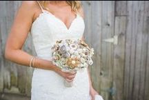 Button bouquets / These are bouquets made of vintage buttons. Some of these buttons are truly works of art.
