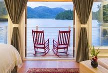 Cabins / At Nimmo Bay Resort, we have nine spacious-yet-cozy cabins: six intertidal and three streamside, all with breathtaking views of the surrounding bay. All nine of our solid wood cabins were carefully constructed with the surrounding environment and the comfort of our guests in mind.
