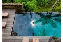 -{ pool & patio }- / Swimming pools and outdoor living spaces