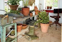 -{ potting shed & greenhouse }- / Beautiful conservatories, potting sheds, greenhouses