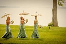 Bridesmaid / What do your bridesmaids wear? Here are a few examples of dresses and accessories that will compliment not only your girls, but you, the bride as well.