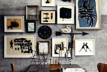 -{ gallery wall }- / Grouped pictures making feature walls