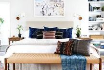 Beguiling Bedroom Interiors / Bedroom interior design inspiration. From colourful, boho and eclectic to restful, peaceful places to zone out.
