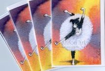 New greeting card designs / New greeting cards printed from Susan Alison designs. They can be found in my Etsy and eBay stores.