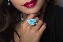 Larimar Rings to adorn your hands with turquoise shades