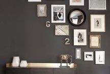 How to hang art / Inspiration photos of gallery walls and inspiring ways to hang art. Guide for decorating future homes and creating or expanding gallery walls.