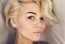 Hair inspo / Hair styles I love and want to replicate. Short, white blonde hair. Silver hair styles, pixie crops, bobs and wavy short hair styles.