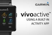 vivoactive / vivoactive is a GPS smartwatch developed for the active lifestyle. It has built-in sports apps, including GPS-enabled running, biking, golfing, swimming and activity tracking.