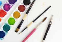 art | crafts + DIY / DIY ideas, craft projects, painting tips