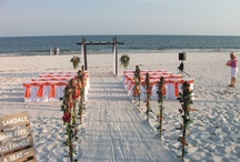 Gulf Shores Wedding / Ideas used at beach wedding of our son and his sweet bride (Rehearsal Dinner and Reception decor) - intimate, sweet and simple, but absolutely lively and lovely! / by Sharon Stinson